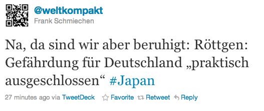 Keine Gefahr, sagt Röttgen /via @weltkompakt